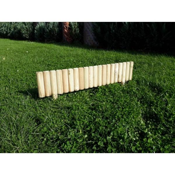 15 x Beeteinfassung Steckzaun 100 cm Zaunhöhe 20 cm aus Holz