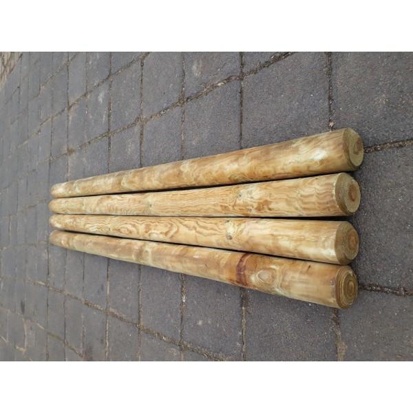 10 Stuck Zaunpfosten Rundholz Pfahl 10 Cm 200 Cm Zaunpfahl Holz Kdi