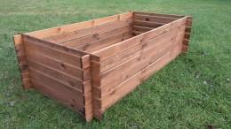 Stabiler Holzkomposter Komposter Imprägniert Hochbeet 170x85cm Riffel