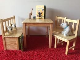 Kindersitzgruppe Massivholz Natur