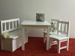 Kindersitzgruppe  Massivholz  weiß