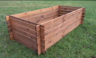 Stabiler Holzkomposter Komposter Kompostbehälter imprägniert Hochbeet 170 x 85cm