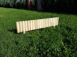 1x Beeteinfassung Rasenkante Steckzaun 100 cm Zaunhöhe 20 cm aus Holz