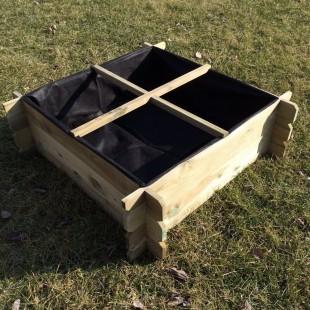 2x Hochbeet 100 x 100 x 30 Holzkomposter
