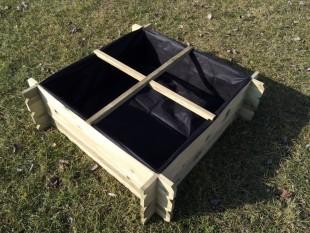 Hochbeet 100 x 100 x 30 Holzkomposter