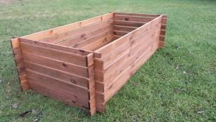 2 x Holzkomposter Komposter Riffel
