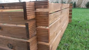 Stabiler Holzkomposter Komposter