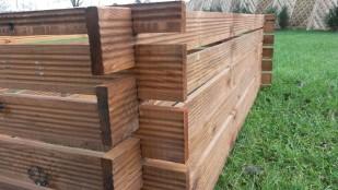 2 Kompostbehälter Stabiler Holzkomposter Riffel
