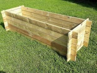 Stabiler Holzkomposter Komposter 195 x 65 x 52 cm