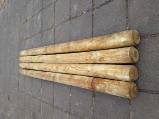 10-Stück-Zaunpfosten-Rundholz-Pfahl-10-cm-200-cm-Zaunpfahl-Holz-KDI